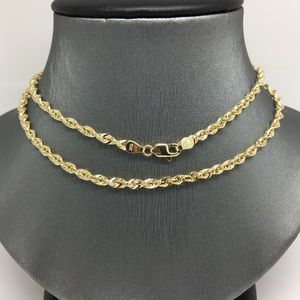 Jewelry - 10K Yellow Gold Rope Chain ~3.00mm 22 inches